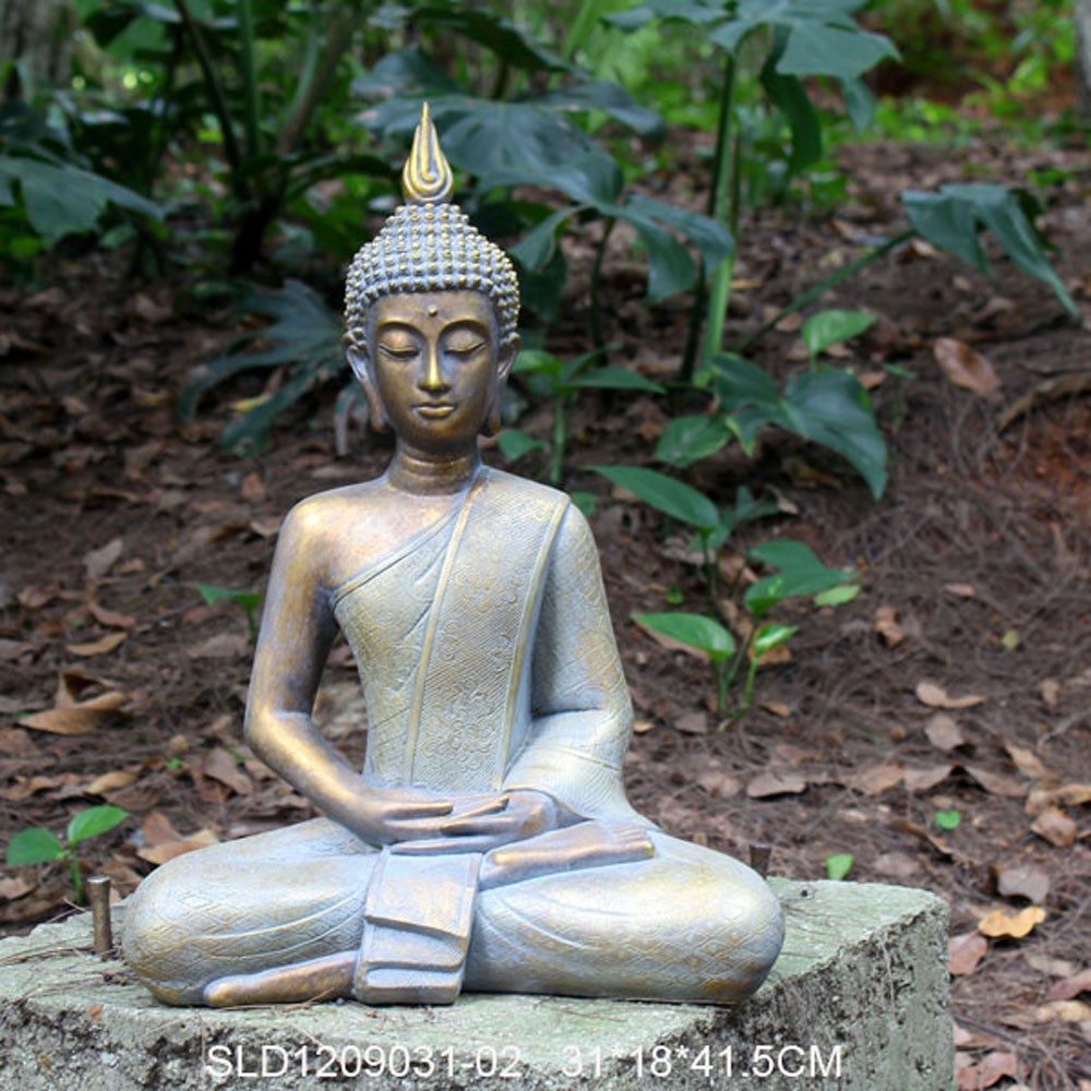 Polyresin decoraci n de jard n de gran estatua de buda - Estatuas de jardin ...