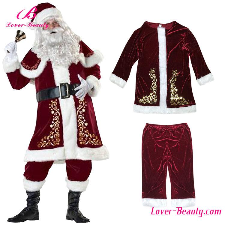 Plus Size Christmas Costumes.Gorgeous 2017 Plus Size Santa Claus Man Father Christmas Costume Buy Christmas Costume Christmas Santa Claus White Christmas Party Costumes Product