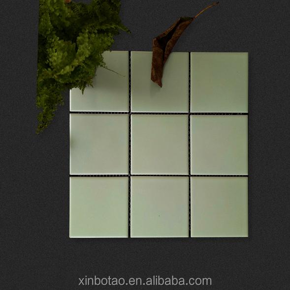 97x97mm Grüne Farbe Matt Rutschfeste Keramische Bodenfliese U Bahn Fliesen  Für Duschräume