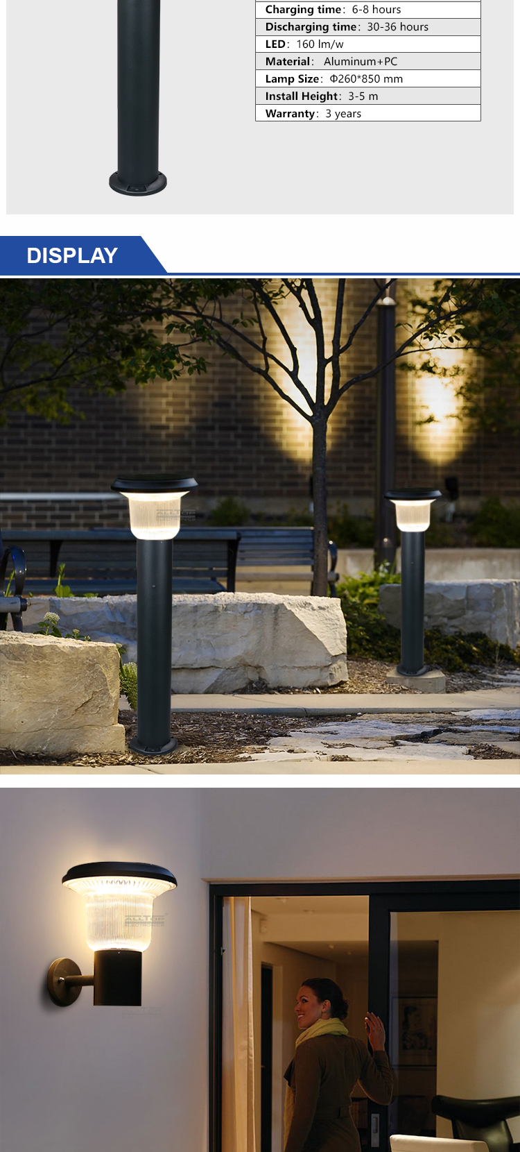 best solar lamp post lights-9