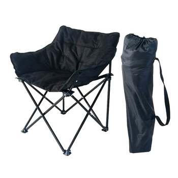 Sailing Padded Moon Round Folding Camping Chair For Outdoor And