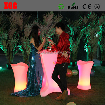 Illuminated Led Arm Chair Light up LED bar table club chair bar stool for event club party