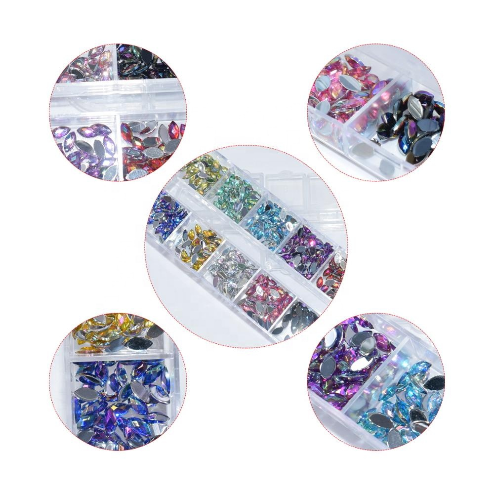 Nail Art DIY Material High Quality 3D Glitter Decorations Crystal Diamond Rhinestone