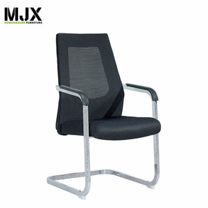 Modern black mesh visitor office chair mid back visitor chair