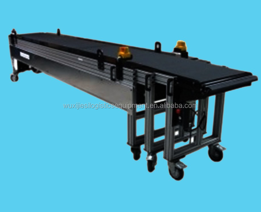 Extendable belt conveyor Loading and unloading belt conveyor Model EI