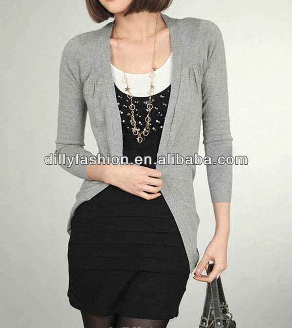 long sleeve women's knitted shrug