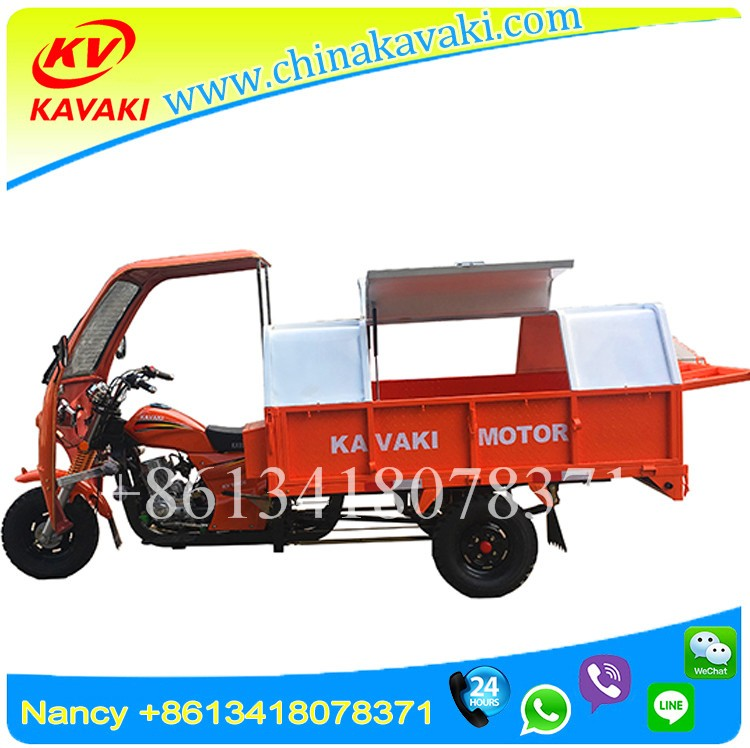250CC ZS Engine 1.4*2.1m Big Carriage Newest Sanitation Vehicle Tricycle