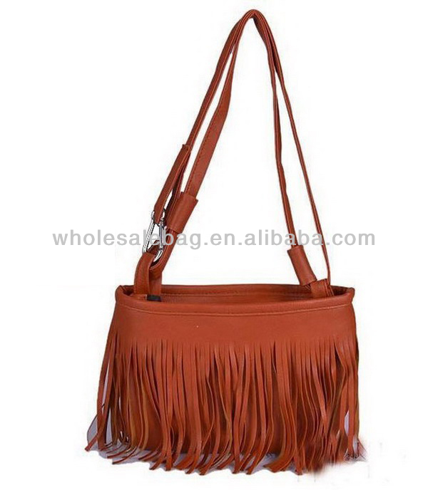 Korean Designer Leather Tassel Sling Bag Wholesale Long Strap ...