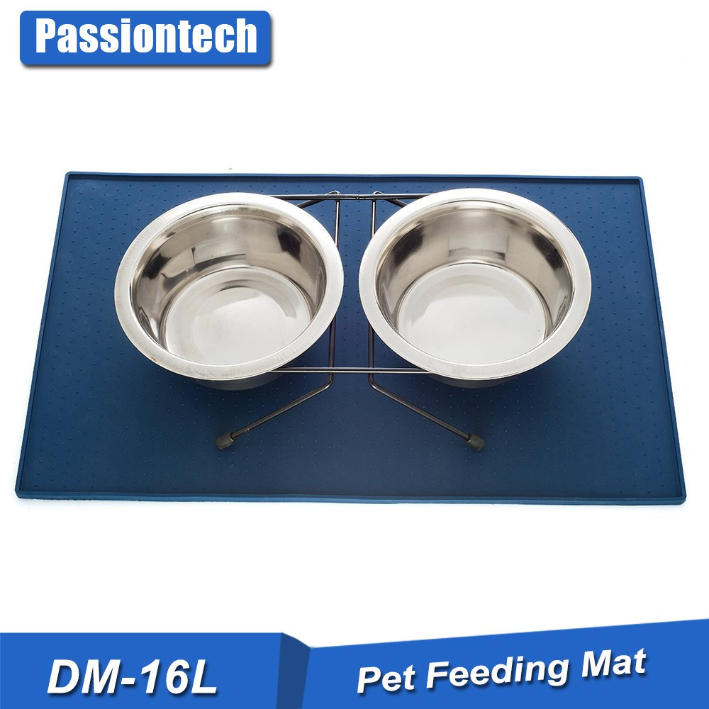 Silicone Pet Food Mat Flexible Eco-friendly Food Grade Premium FDA Pet Feeding Tray For Cats and Dogs Easy To Clean Tray