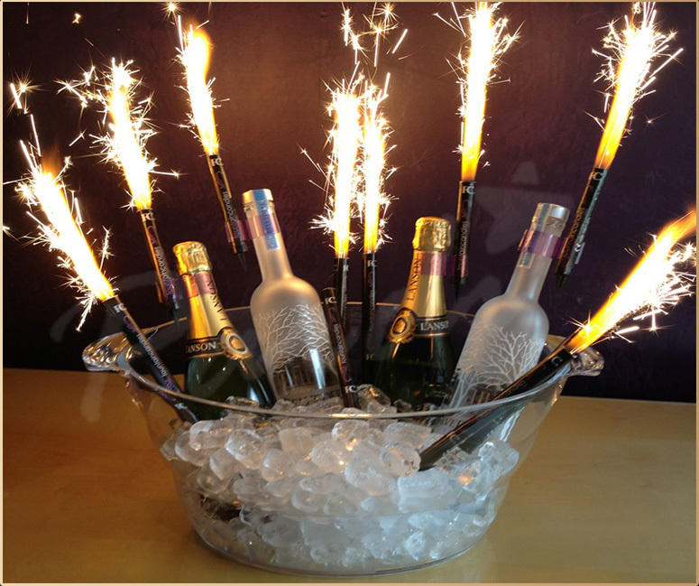 Hot Nightclub Sparklers Ice Fountain Fireworks Champagne