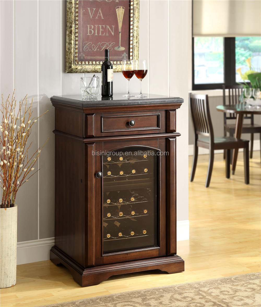Decorative Glass Display Wine Bar Cabinets Refrigerated Wooden Wine Cabinet