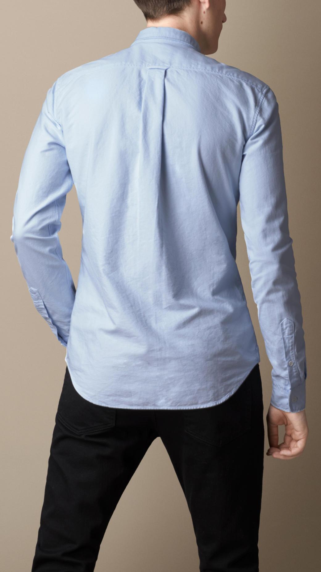 Mens Oxford Shirts Slim Fit