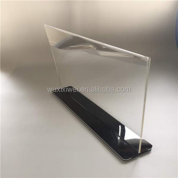 Responsible Acrylic Tabletop Menu Display Stand Menu Holder Desk Sign Menu Counter Display Stand Acrylic Block Frame Picture Photo Frame Fine Quality Office & School Supplies