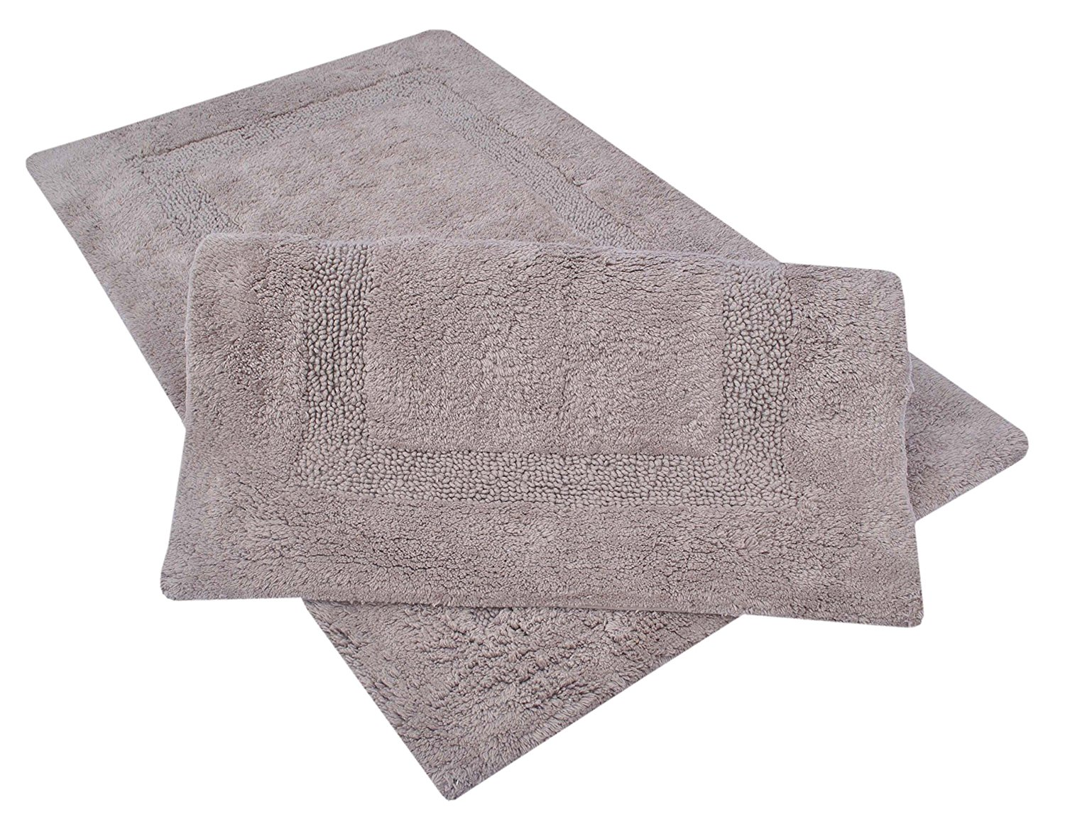 Get Quotations Set Of 2 Large 21 X 34 Inches 100 Cotton Tuffted Bath Rugs With Anti