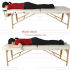 Sex Table Massage Table 2 Section Wooden Folding And Portable Sex Massage Table
