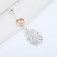 Кольцо для пирсинга живота Cxwind, кольцо из нержавеющей стали с кристаллом циркония, брендовые новые кольца на пуговицах для живота(Китай)