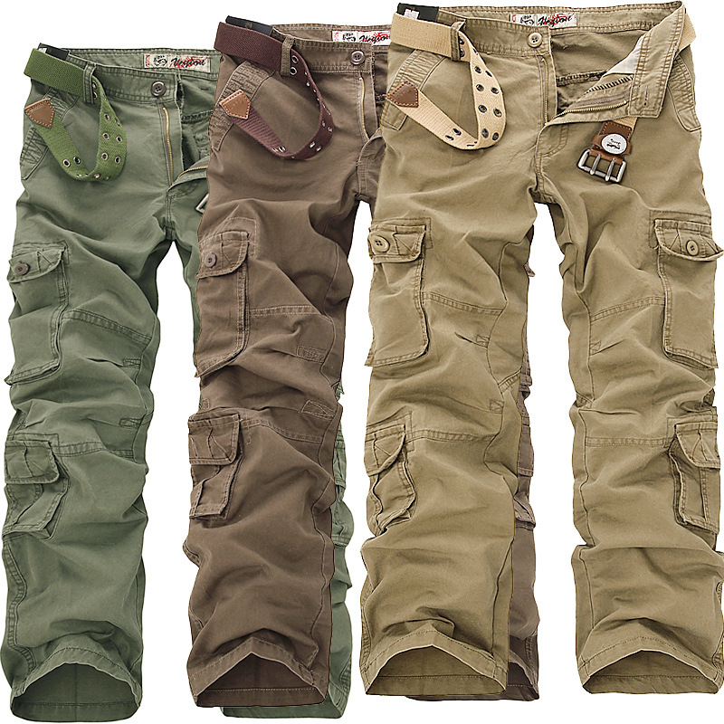 2016 New Design 6 Pocket Trouser Cargo Pants For Men With Fastener