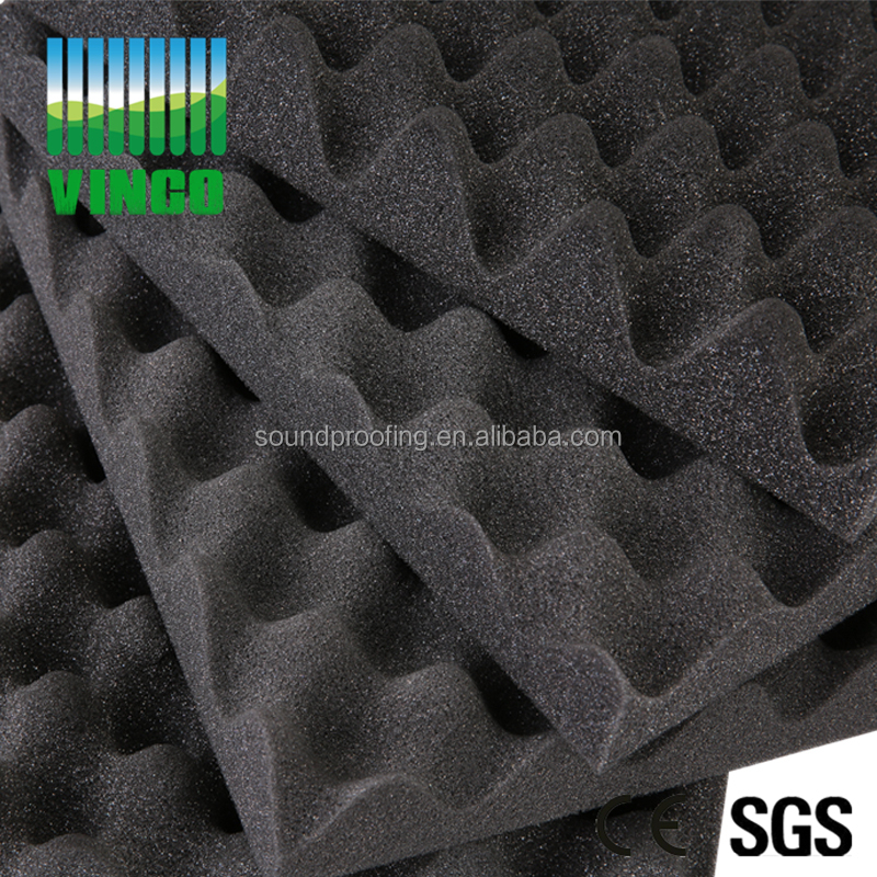 Colored / Charcoal/ White Eggcrate Foam Type Acoustic Wave Foam