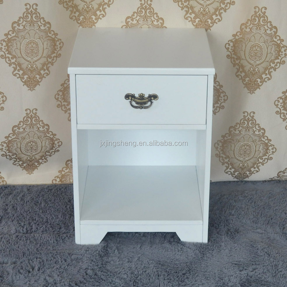 Italian style luxury household white wood end table furniture