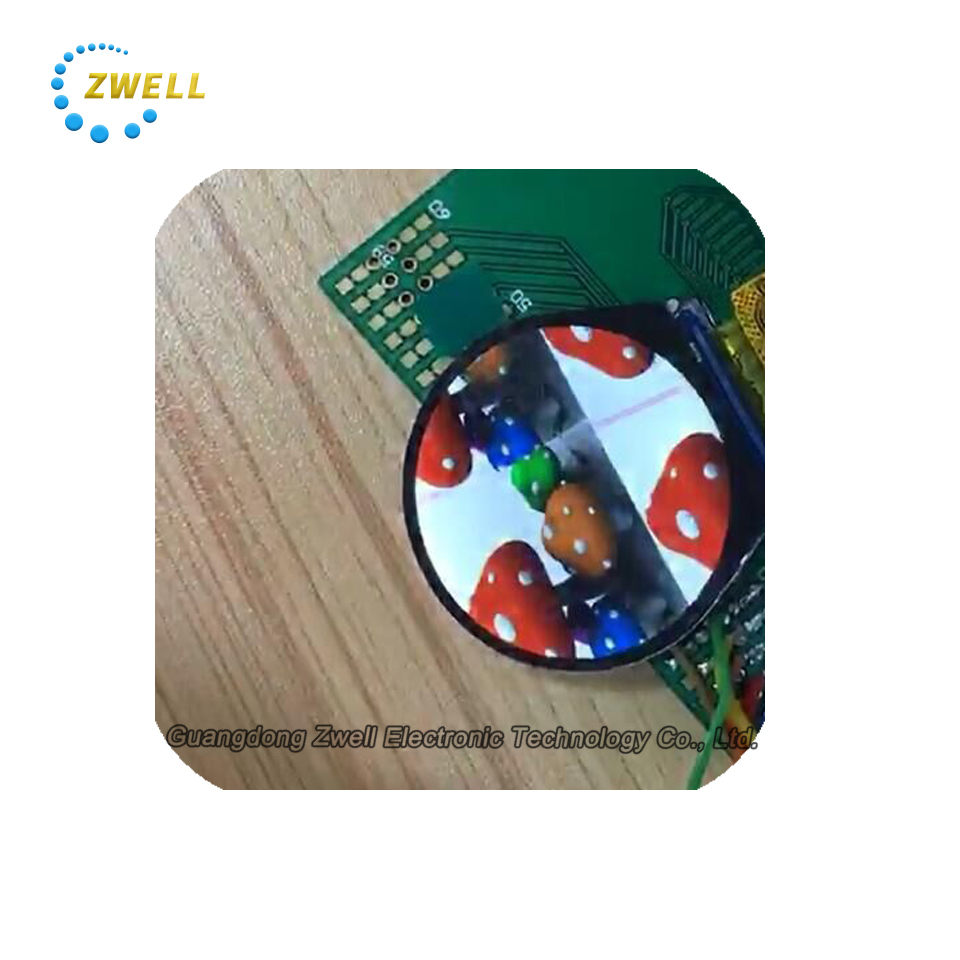 1.28 1.3 inch round 240*RGB*240 dots IPS white LED backlight small circular smart sport watch TFT LCD module screen