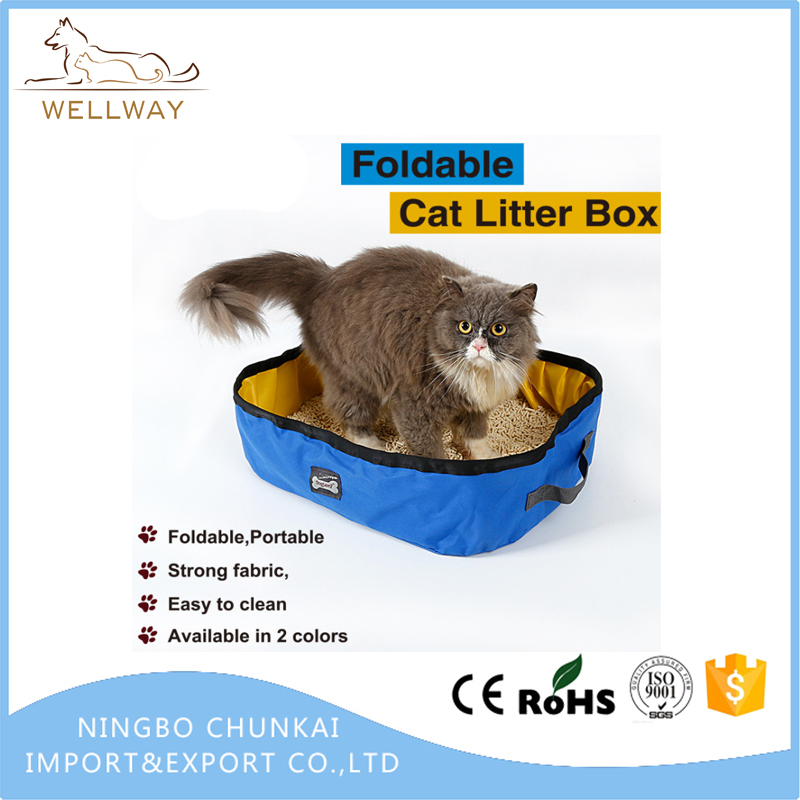 Collapsible Pet Toilet for Puppy and Kitty Cat, Light Weight Cat Litter Tray for Travel, Drive