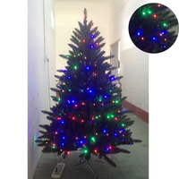 Blue led lights pre lit 6ft artificial spiral christmas tree