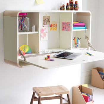 Lovely New Arrival Pull Down Desk Wall Mounted Folding Table For Living Home Room  MDF Wood