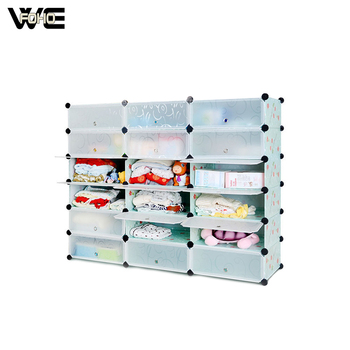 18 Cubes Plastic Waterproof Cherry Box Storage For Toys And Shoes Folding Cube Cabinet Product On Alibaba