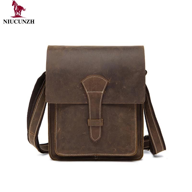 06aaa6442434 Wholesale Men Bag Small Business Bags Crazy Horse Leather Crossbody Shoulder  Handbag