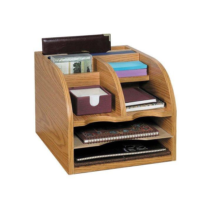 Trade Assurance Desk Organizer Cabinets Wooden Storage Box