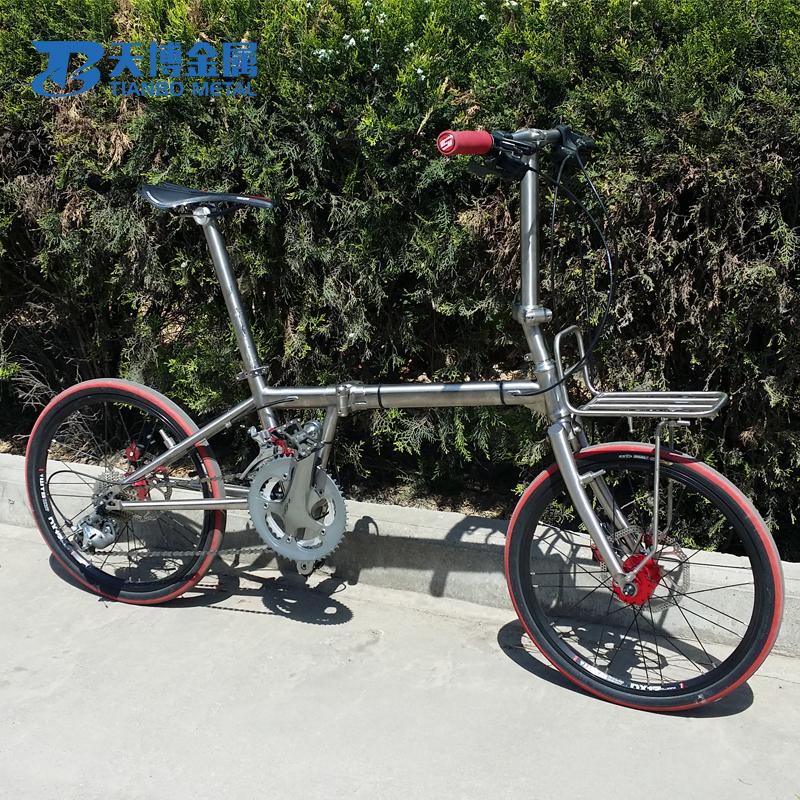 Gr9 20 Inch Titanium Folding Bike Frame,Titanium Cyclocross Frame ...