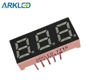 0.28 inch 7 segments 3 digits LED Display instrument panel