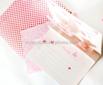 Pink Heart 3D Thank You Card