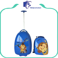 New design fanny cartoon ABS+pc kids carry on trolley luggage