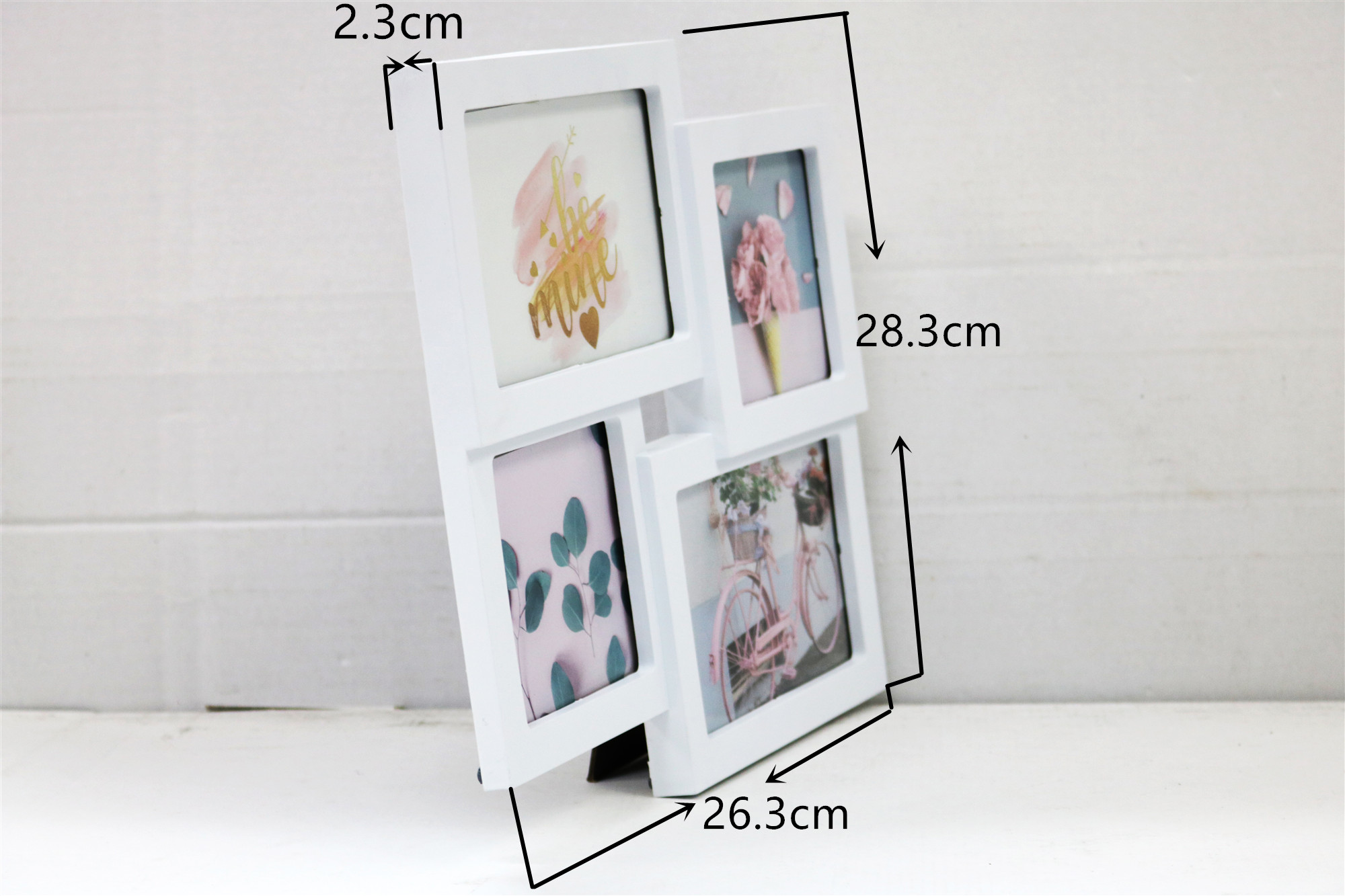 BH1114  Chinese supplier table photo frame simple design collage small cheap plastic picture mini photo frame