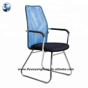 Cheap modern high middle back mesh specification visitor office chair no wheels/chrome waiting room chairs