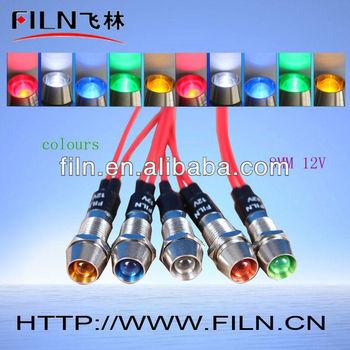 Filn Neon Indicator Lamp 12v Led Control Panel Indicator