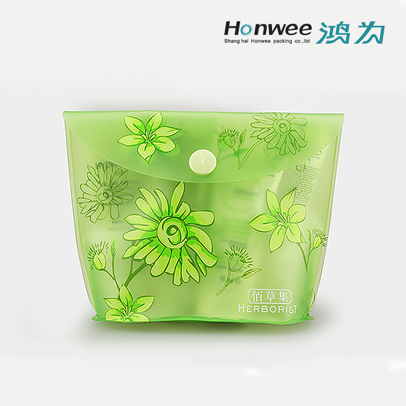 OEM promotional pvc plastic bag for toiletries gift set