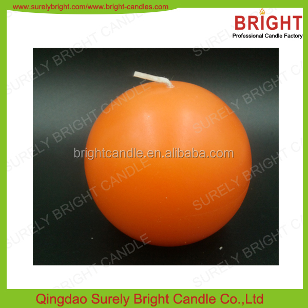 2016 New Hoar-frosted and Smooth Surface Effect Personalised Ball Candles