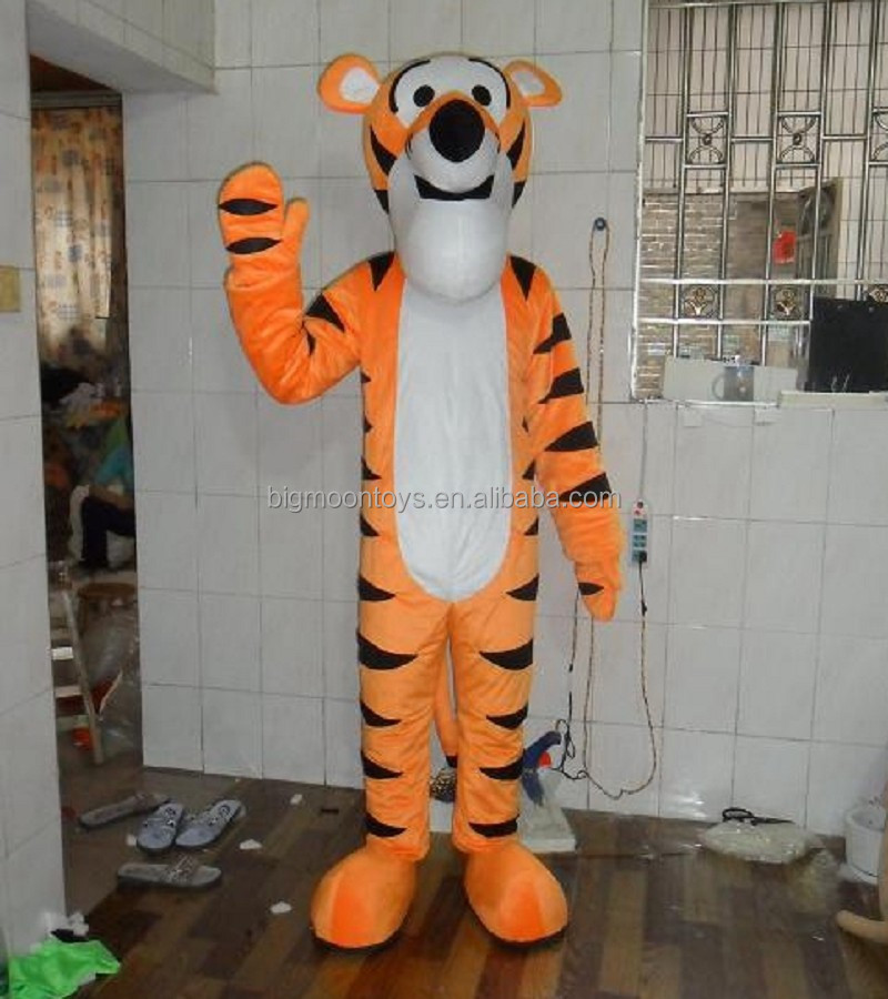 2016 hot customized hobbes tiger costume,tiger mascot costumes for kids
