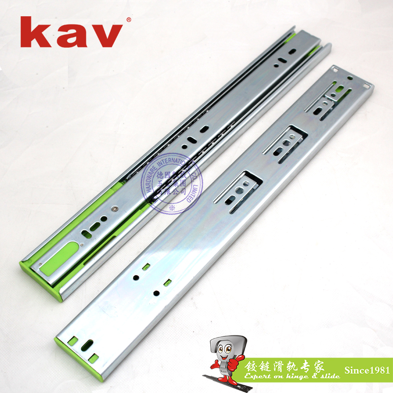 Kav Soft Closing Drawer Runners 45mm Wide Full Extension Kitchen Cabinet Slide Channel