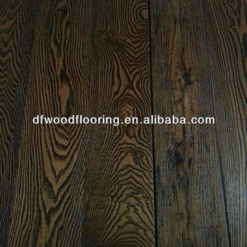 Dark Color Raised Rustic Ash Hardwood Solid Wood Flooring