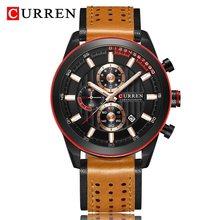 Часы CURREN Мужские, модные, кварцевые, водонепроницаемые, 30 м(Китай)
