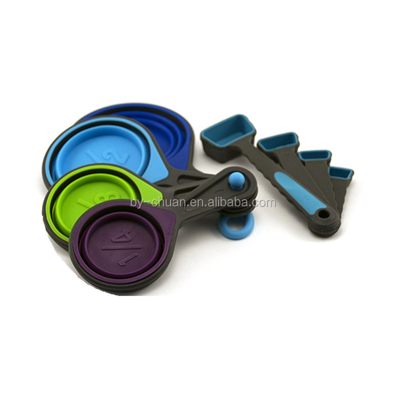 Attractive Collapsible Measuring Cups And Measuring Spoons Portable Food Grade  Silicone For Liquid U0026 Dry Measuring   Buy Measuring Cups Spoons,Measuring  Cups And ...
