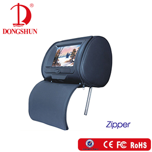 "7"" monitor headrest car DVD with pillow"
