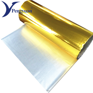 Reflective gold coated metalized mylar pet packaging film