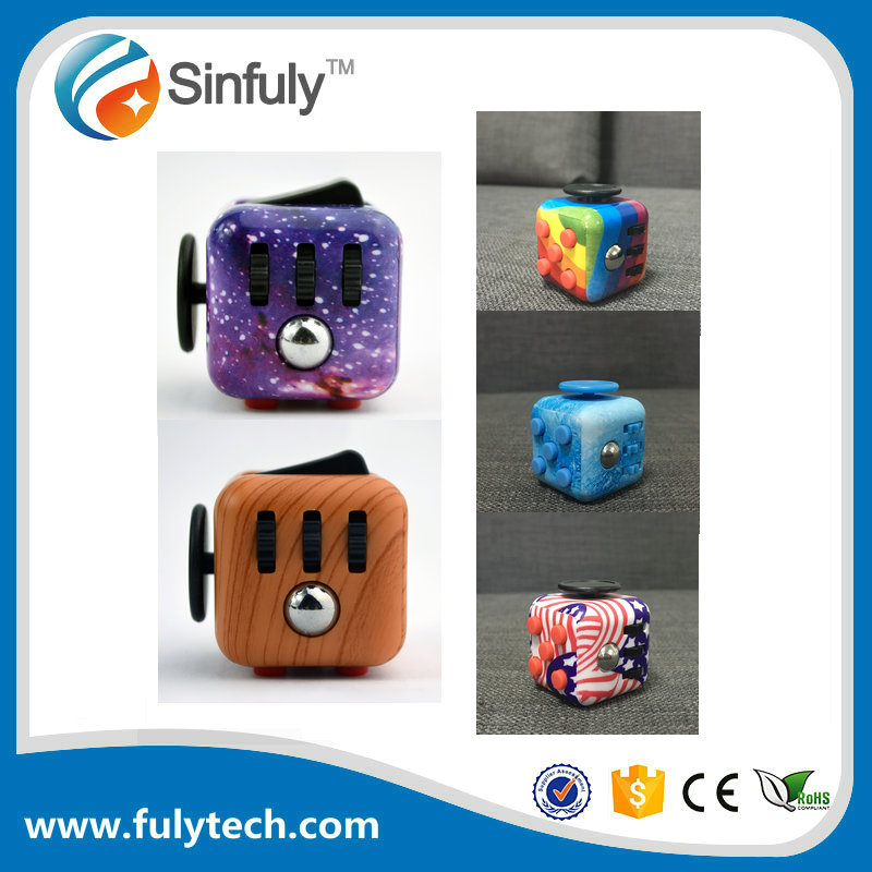 2017 Newset Exclusive NEO Camouflage Cube Relieves Stress Fidget Toys Painted Cube