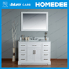 Floor mounted classical hotel bathroom vanity mirror cabinets with sink