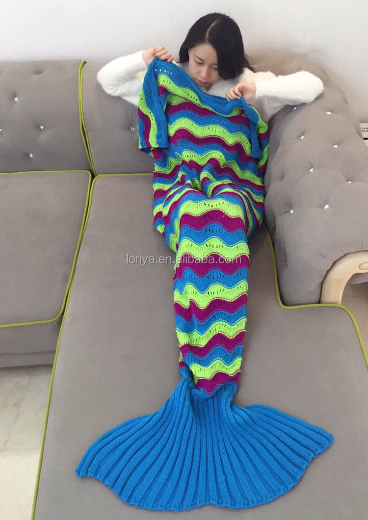 Blanket sleeping bag High end mermaid tail pattern hot selling in Europe