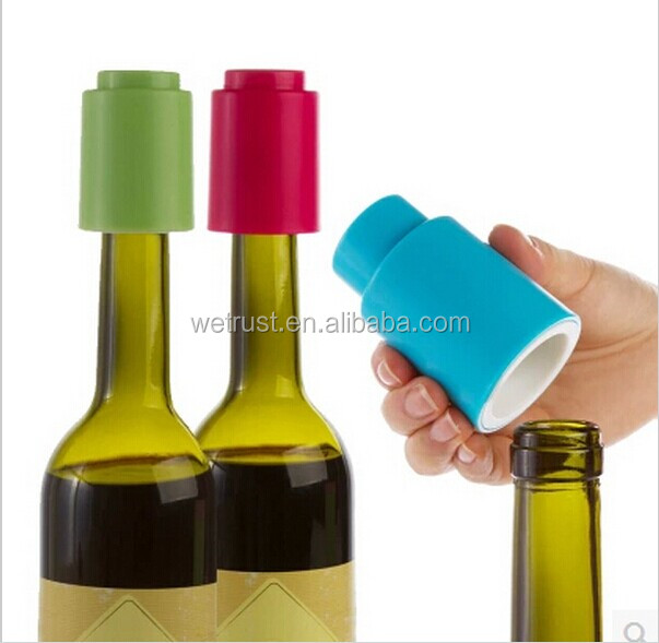 Wholesale Cheap Reusable Press Lever Pump Freshen Sealed Saver Novelty Vacuum <strong>Wine</strong> Bottle Stopper